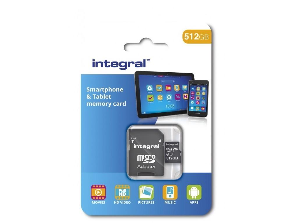 Компания Integral Memory в феврале начнет продавать microSD 512 ГБ