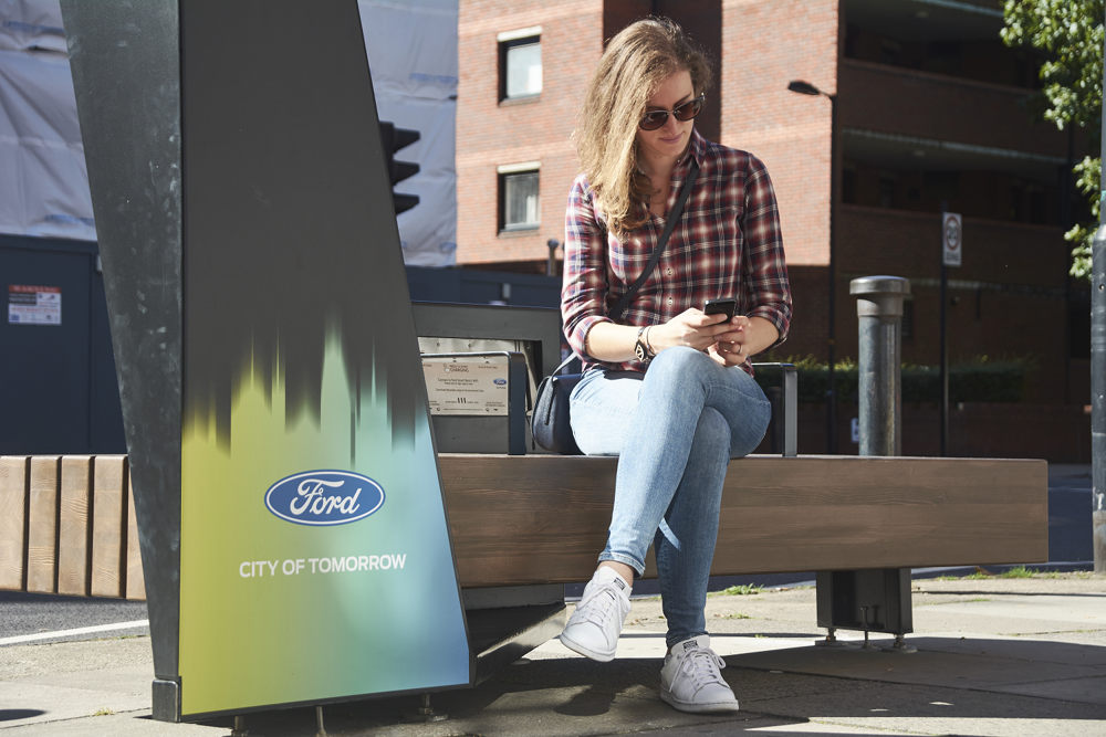 В Лондоне появятся «умные» скамейки от компании Ford