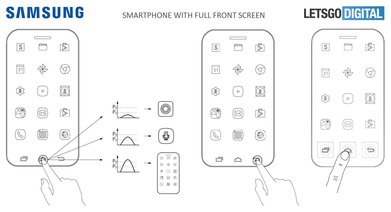 Samsung запатентовала полностью безрамочный смартфон без «козырька»