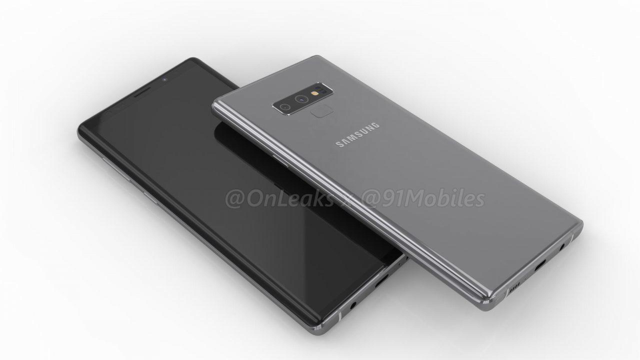 Флагманский Samsung Galaxy Note 9 показали на рендерном видео