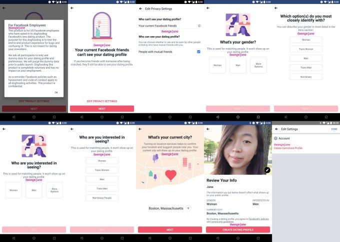 ВИнтернет выложили первые фото дизайна сервиса знакомств от социальная сеть Facebook