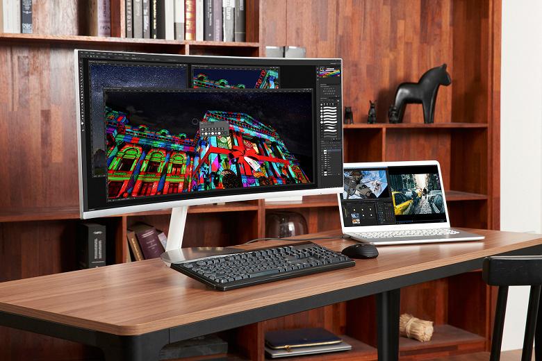 Самсунг анонсировала монитор CJ79 с34-дюймовым дисплеем