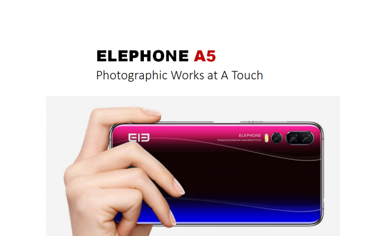 Смартфон Elephone A5 с пятью камерами оценили в 230 долларов