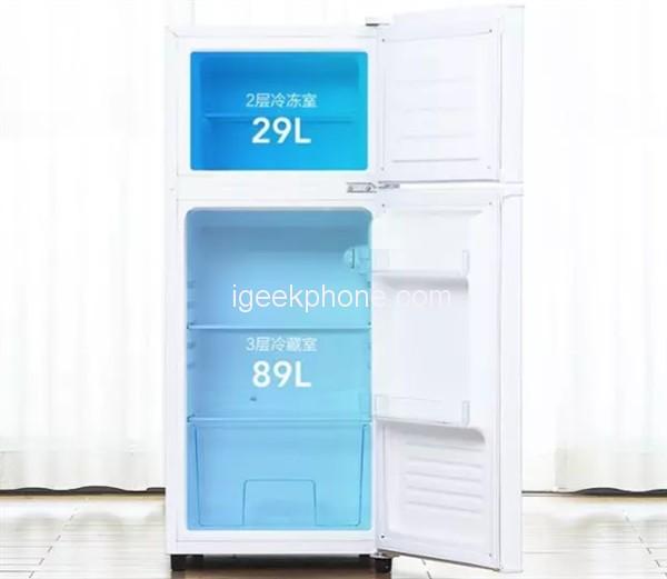 Двухкамерный холодильник Xiaomi Yunmi 118L оценен в 100 долларов