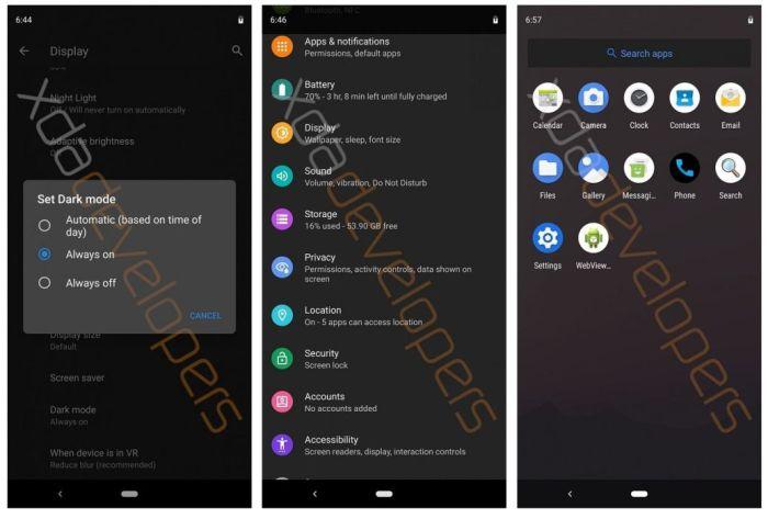 В новой версии Android 10 Q появятся режим десктопа и темная тема