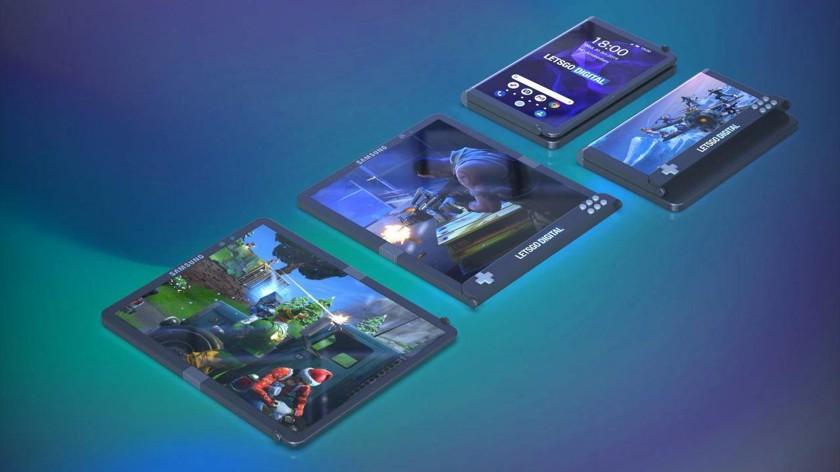 Samsung запатентовала игровой смартфон с гибким экраном