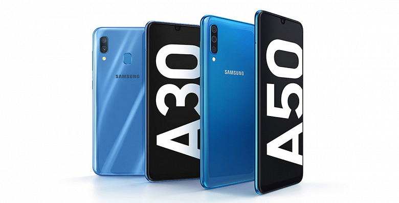 Samsung представила новые смартфоны Galaxy A30 и Galaxy A50