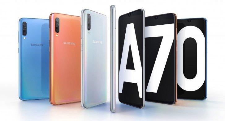 Представлен новый смартфон Samsung Galaxy A70
