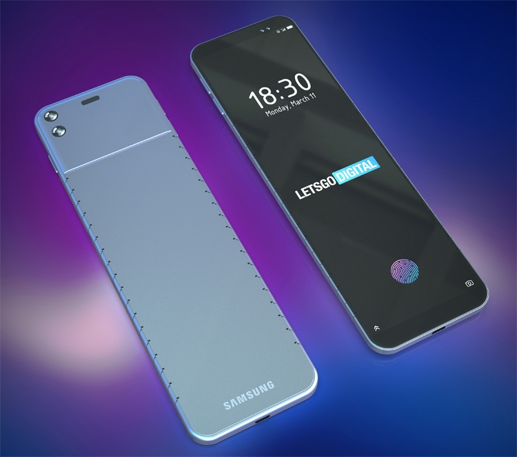 Samsung проектирует гибкий смартфон для ношения на запястье