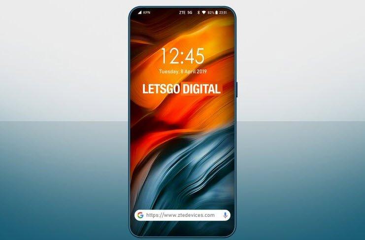 ZTE запатентовала по-настоящему безрамочный смартфон