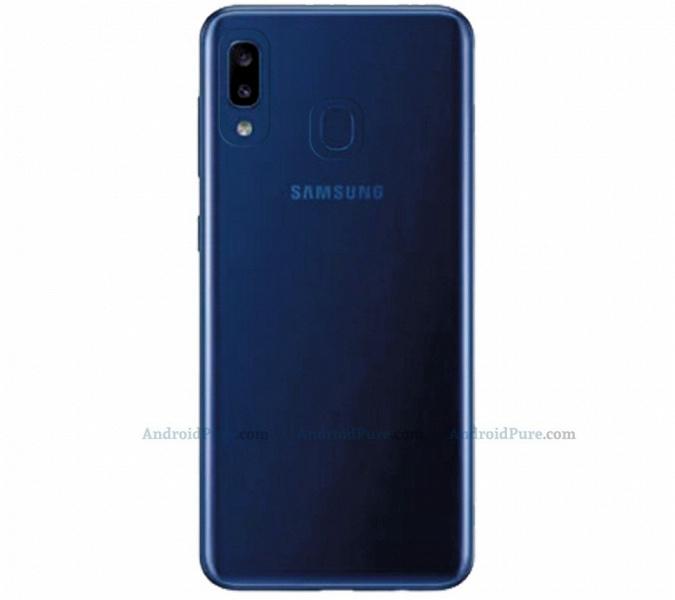 Смартфон Samsung Galaxy A20e показали на рендерах