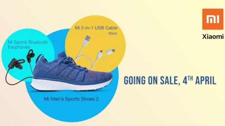 Наушники Sports Bluetooth, кабель и кроссовки Xiaomi появятся в продаже 4 апреля