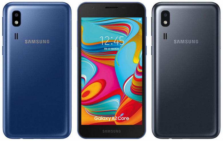 Раскрыты параметры смартфона Samsung Galaxy A2 Core