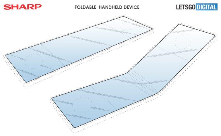 Опубликованы первые рендеры складного игрового смартфона Sharp