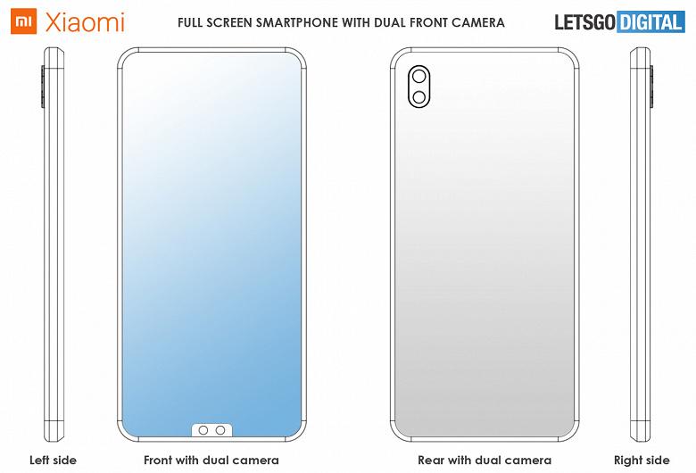 Xiaomi готовит смартфон с вырезом для камеры внизу экрана