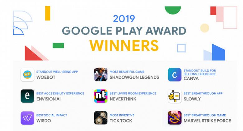 Google Play Awards 2019: названы лучшие приложения этого года