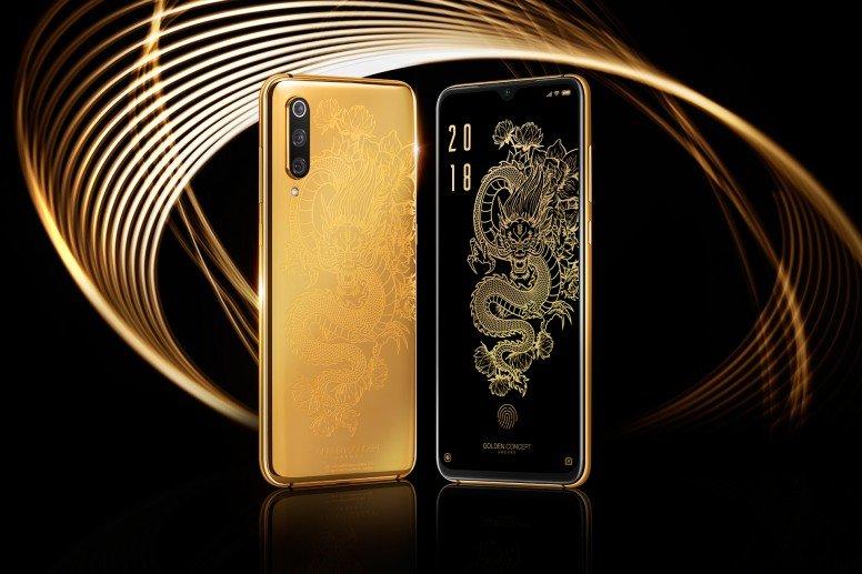 Xiaomi показала чехол покрытый 24-каратным золотом для Xiaomi Mi 9