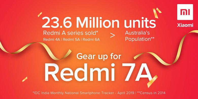 Объёмы продаж Redmi 4А, Redmi 5А и Redmi 6А превысили 23 млн