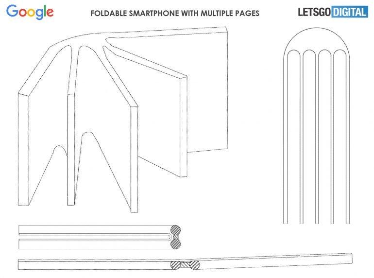 Google разрабатывает многостраничный смартфон-книжку