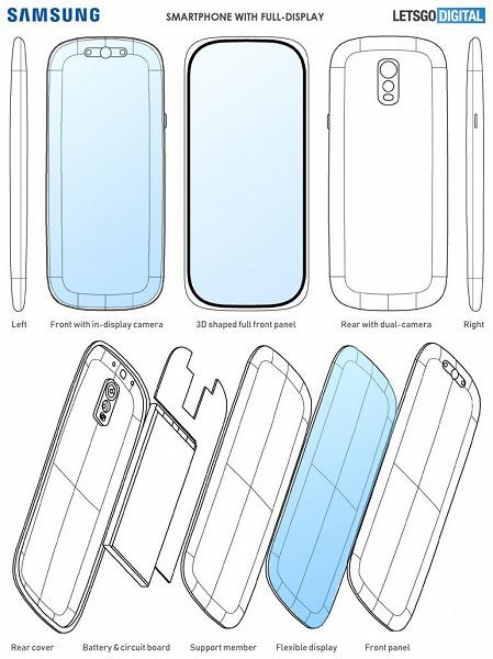 Samsung возможно запатентовала Galaxy S12 с изогнутым 3D-экраном