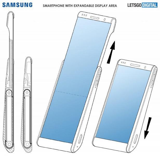 Samsung запатентовала смартфон с раздвижным экраном