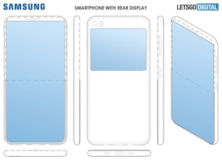 Samsung готовит смартфон с дополнительным экраном на задней панели
