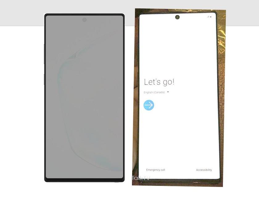 Работающий Samsung Galaxy Note10+ показали на живом фото