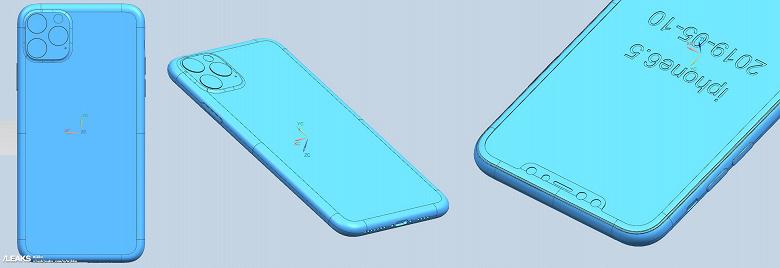 В Сети показали созданные по чертежам рендеры iPhone 2019 года