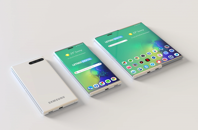 Samsung запатентовала очень необычный смартфон