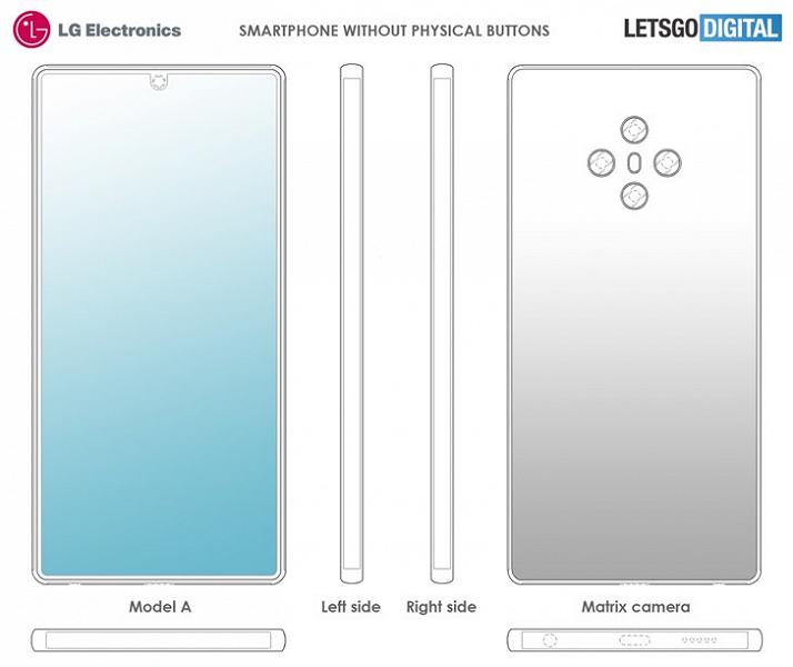 LG создает смартфоны без физических кнопок