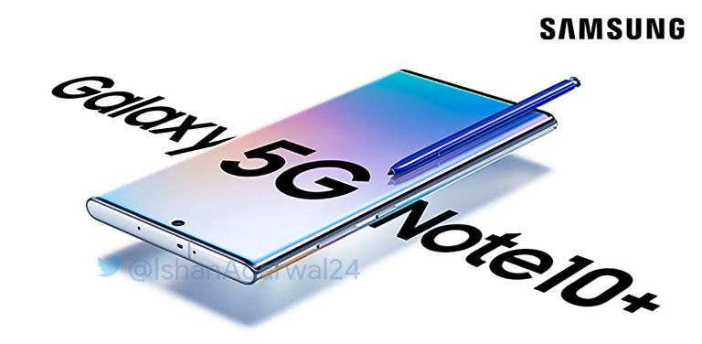 В Twitter показали официальный постер смартфона Samsung Galaxy Note10+ 5G