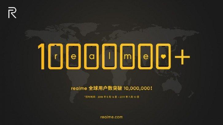 Realme на мировом рынке продала уже более 10 млн смартфонов