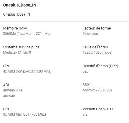 Телевизор OnePlus TV получит неизвестный процессор от MediaTek