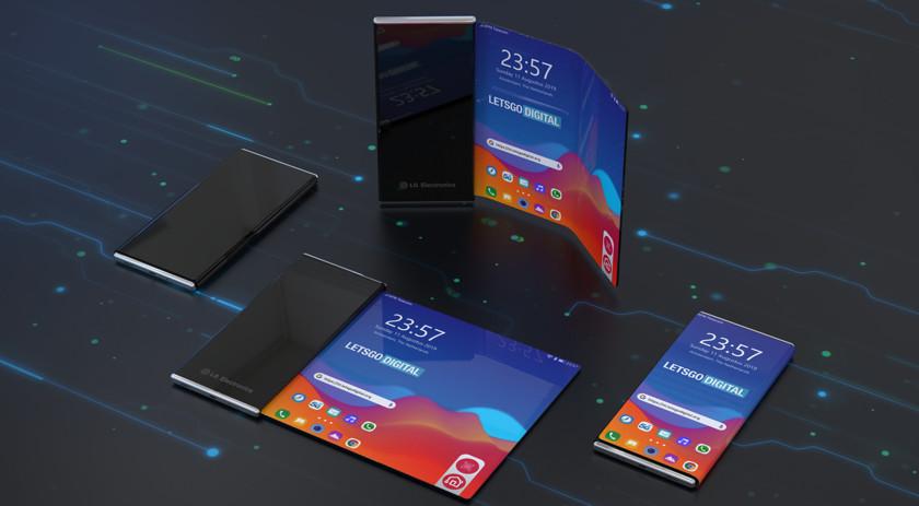LG проектирует необычный складной смартфон