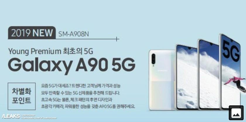 В сети опубликовали постер смартфона Samsung Galaxy A90 5G