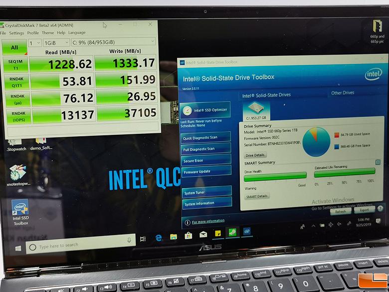 Intel представила новый SSD с более быстрой памятью QLC NAND