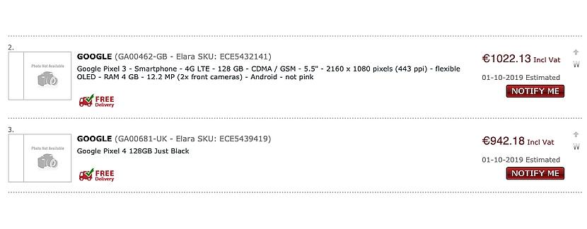 Раскрыты европейские цены на смартфоны Pixel 4 и Pixel 4 XL