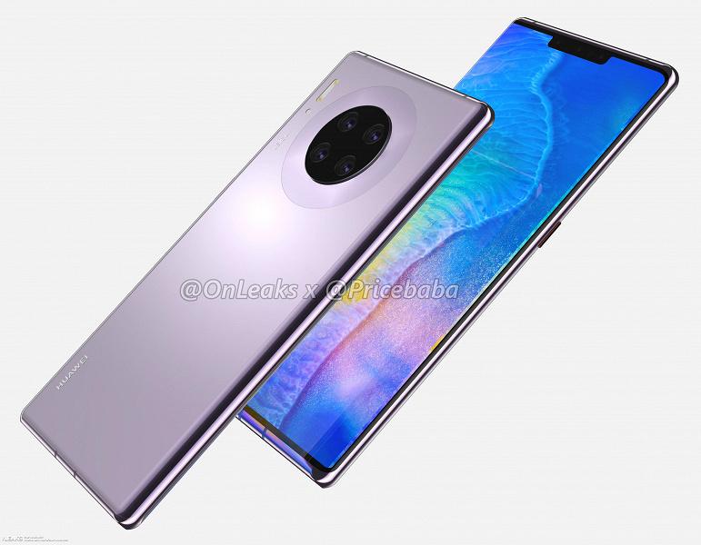Дизайн флагманского Huawei Mate 30 Pro показали на изображениях