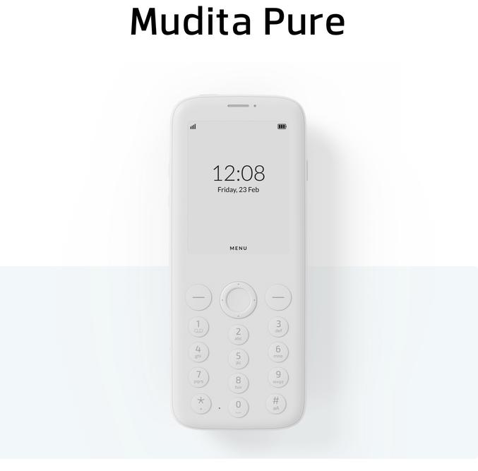 Представлен кнопочный телефон Mudita Pure с экраном e-ink за 20 тыс. рублей