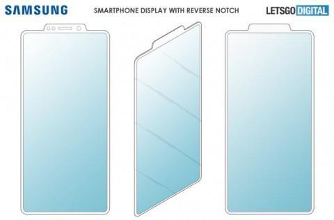 Samsung патентует смартфон с торчащим наружу вырезом с камерами