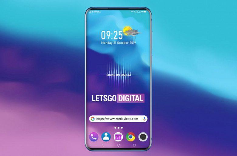 ZTE выпустит смартфон с уникальным расположением селфи-камеры