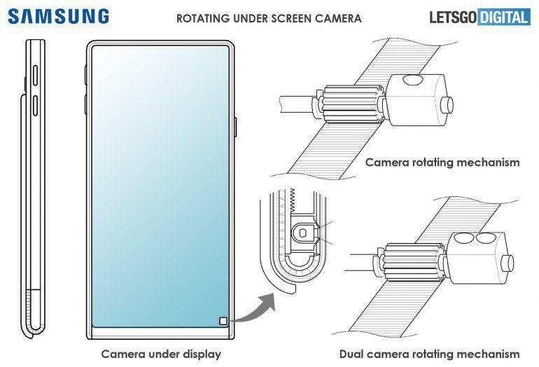 Компания Samsung запатентовала смартфон-слайдер с поворотной камерой
