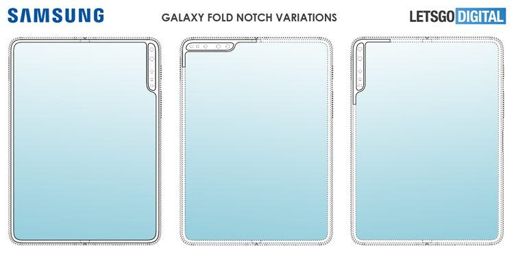 Samsung патентует вертикальный вырез в экране смартфона