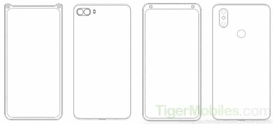В Xiaomi придумали новые варианты размещения селфи-камеры