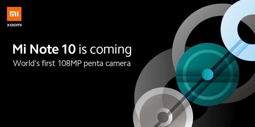 Xiaomi анонсировала смартфон Xiaomi Mi Note 10 с камерой на 108 Мп