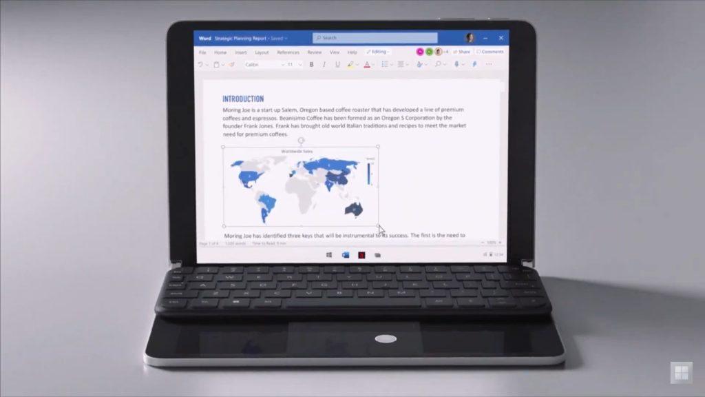 Microsoft представила планшет нового поколения на ОС Windows 10X