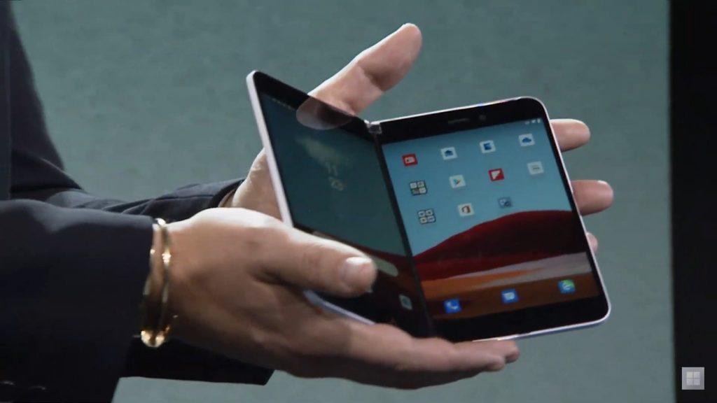 Microsoft представила новый смартфон с двумя дисплеями