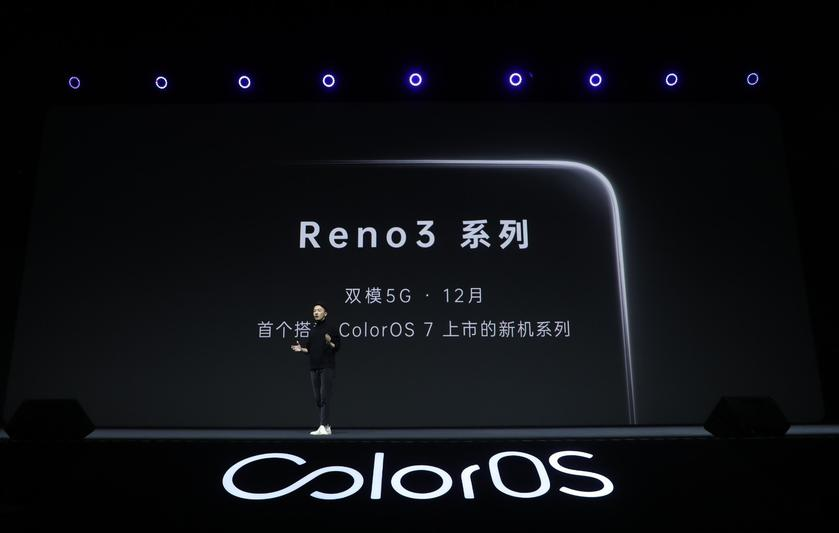 Компания Oppo анонсировала новый смартфон Reno 3 с 5G
