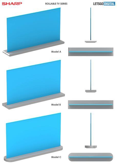Sharp разрабатывает телевизор, скручивающийся в рулон