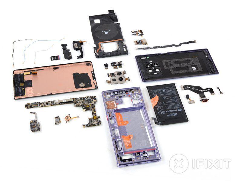 Специалисты iFixit оценили ремонтопригодность Huawei Mate 30 Pro